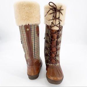 * UGG Edmonton Tall Leather/Nylon Shearling Boot